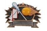 Sports Plate Lacrosse Male Academic Accolade Plate Trophy Awards