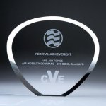 Shell Plaque Crystal Award Achievement Awards