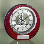 Circle Clock with Exposed Gears in Chrome Achievement Awards