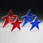 Ruby and Sapphire Star Artistic Glass Awards