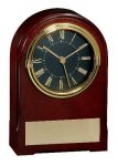American Walnut Finish Arch Clock Boss Gift Awards