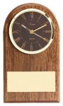 American Walnut Slanted Arch Clock Boss Gift Awards
