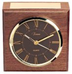 American Walnut Square Clock Boss Gift Awards