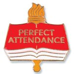 Perfect Attendance Lapel Pin Chenille Lapel Pins