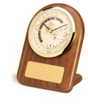 American Walnut Arch World Clock Desk Clocks
