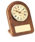 American Walnut Arch Clock Desk Clocks