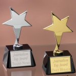 Small Stars with Glass Bases Employee Awards