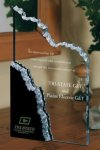 Mountain Peak Black and Clear Acrylic Award Employee Awards