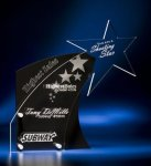 Clear Star with Black Accent Acrylic Award Employee Awards