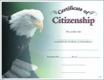 Photo Certificate of Citizenship Fill in the Blank Certificates