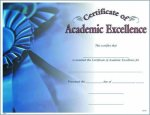 Photo Certificate of Academic Excellence Fill in the Blank Certificates