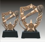 Academy Shield Music Microphone Music Trophy Awards