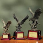 Eagle on Piano Finish Base Patriotic Awards