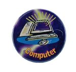 Computer Fun Button Promotional Buttons