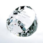 Duet Round Paperweight- Clear Secretary Gift Awards