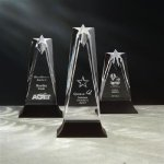 Star Tower Stone Acrylic Awards