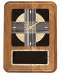 American Walnut Wall Clock with Black & Gold Crackle Face Wall Clock Plaques