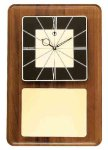 American Walnut Wall Clock with Black & Gold Face Wall Clocks